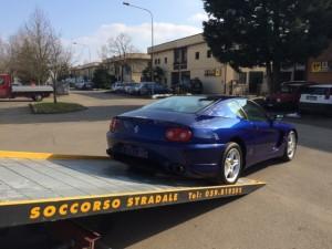 Soccorso stradale a Nonantola H24. Carroattrezzi Idea Auto con Ferrari Blu
